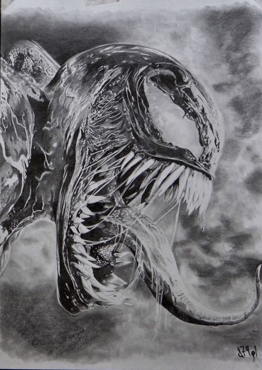 Venom Drawing By D79pl Artmajeur