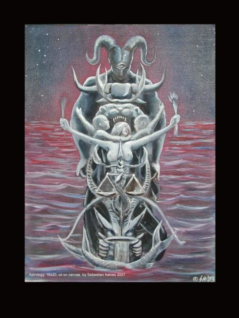 """Painting titled """"Astrology"""" by Sebastian Haines, Original Art,"""