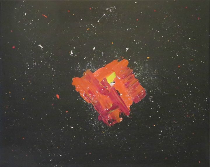 """Painting titled """"Galaxie"""" by Art'Tino, Original Art, Acrylic Mounted on Stretcher frame"""