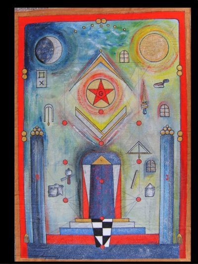 Board of Lodge Fr Charles de Velbruck - Painting,  39.4x27.6 in, ©2007 by Ferenc Sebök -
