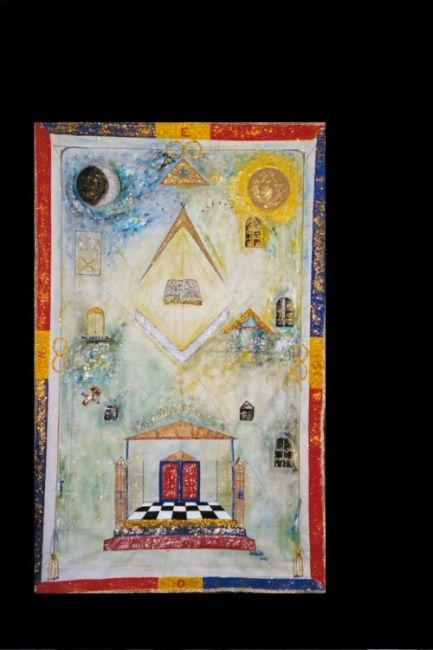 Board I of Iris Lodge - Painting,  43.3x33.5 in, ©2004 by Ferenc Sebök -