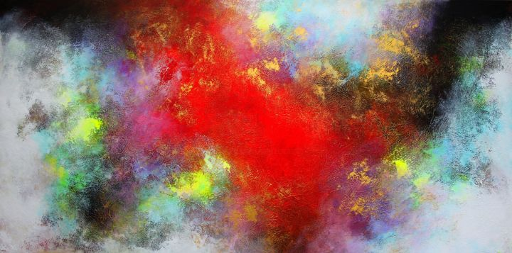 Temptation - Painting,  100x200x4 cm ©2019 by alex senchenko -                                                                                Abstract Art, Abstract Expressionism, Art Deco, Art Nouveau, Abstract Art, abstract painting, modern painting, original painting, abstract, abstract art, canvas art, painting on canvas