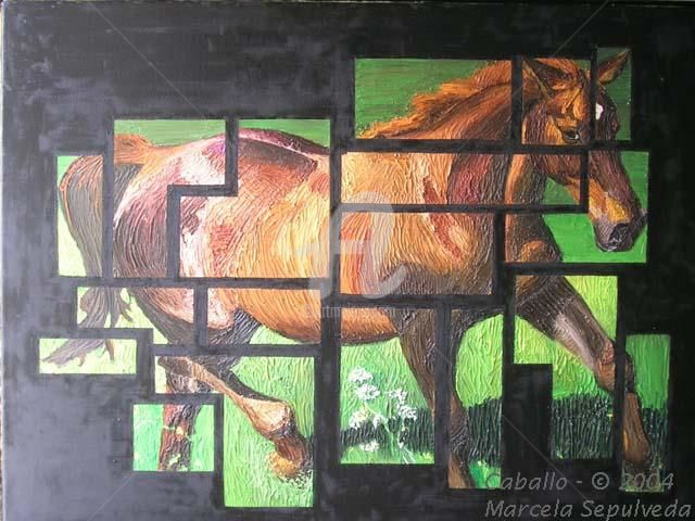 Caballo - Painting,  80x60 cm ©2004 by Marcela -