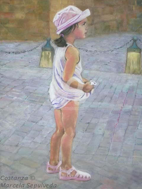 """Painting titled """"Costanza"""" by Marcela, Original Art,"""