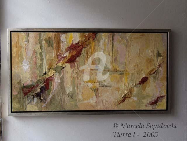 Tierra - Painting,  70x35 cm ©2005 by Marcela -