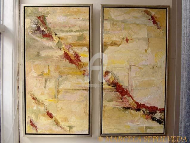 Tierra - Painting,  80x37 cm ©2005 by Marcela -