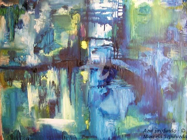 Azul noche - Painting,  55x46 cm ©2005 by Marcela -