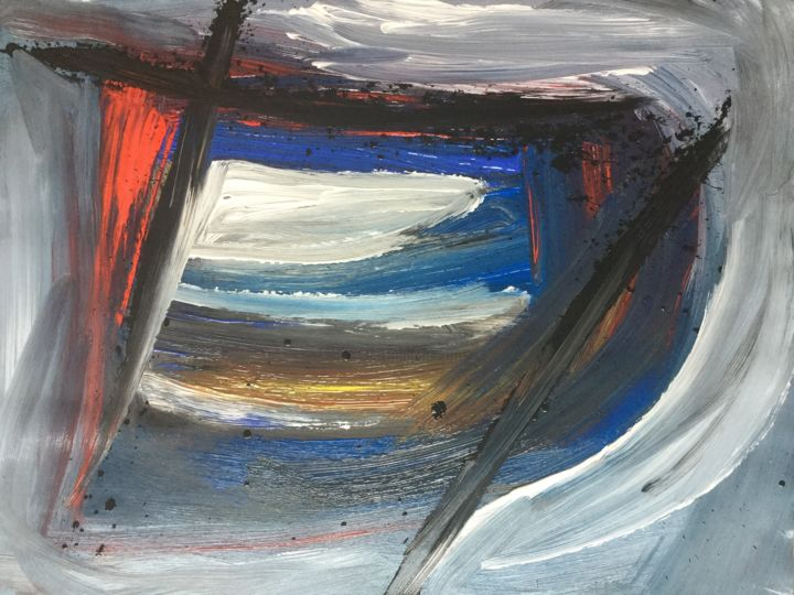 Abst 2 - Painting, ©2016 by Serge Berry -