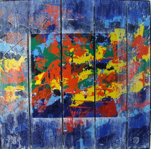 Painting,  80 x 80 cm ©2011 by Serge Boué - Kovacs -  Painting, Contemporary