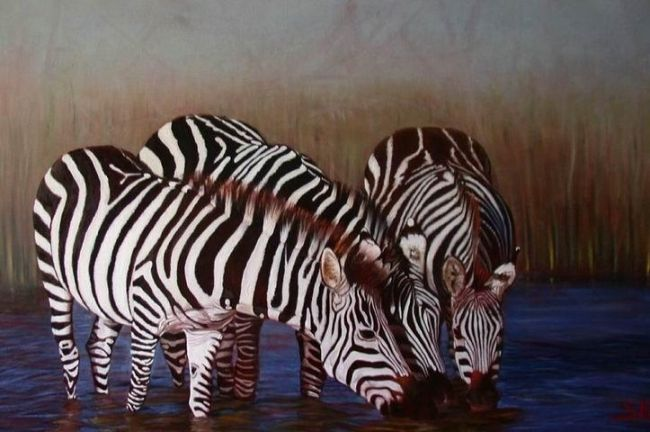 krief_269011_zebre.jpg - Painting ©2011 by Serge Krief -