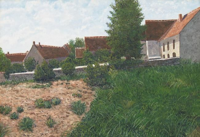 VUE DU PLESSIS MERIOT ( AUBE) - Painting,  18.1x24 in, ©2004 by Jean-Marc Serieys -                                                                                                                          Figurative, figurative-594