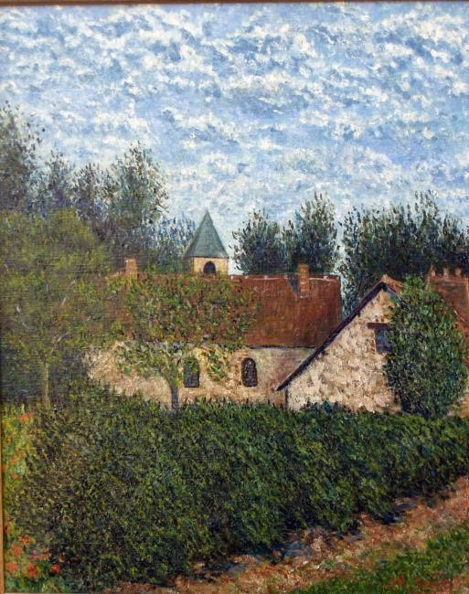 LE PIGEONNIER - Painting,  41x33 cm ©2003 by Jean-Marc Serieys -                        Figurative Art