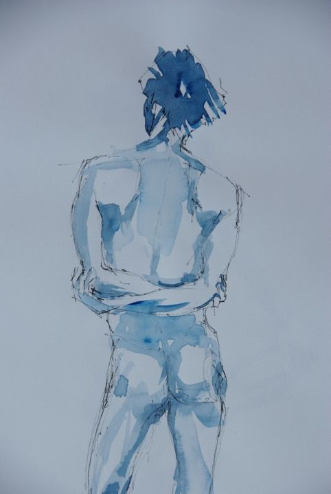 Croquis G - Drawing, ©2014 by Isabelle Seruch Capouillez -