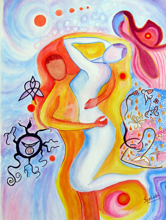 Kamasutra-3. Painting (24x18x0.3 in)