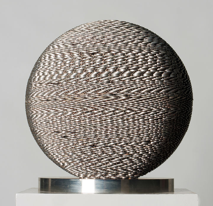 Sculpture, stainless steel, conceptual art, artwork by Seungwoo Kim