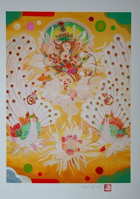 """Painting titled """"A Fairy of Epiphyll…"""" by Seykangnanpou, Original Art, Oil"""