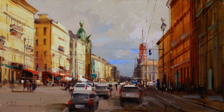 On Nevsky. - ©  St. Petersbur, Northern Palmyra, a modern city, movement Online Artworks
