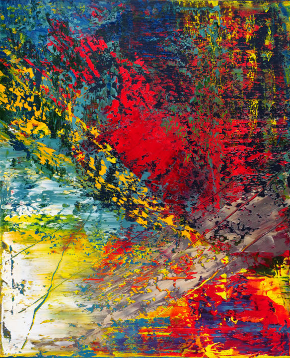"""Painting titled """"Abstract landscape…"""" by Shamanov Vadim, Original Art, Oil"""