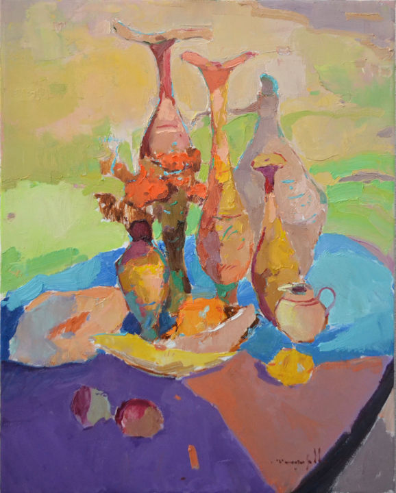 """Painting titled """"Mysterious pitchers…"""" by Alexander Shandor, Original Art, Oil"""