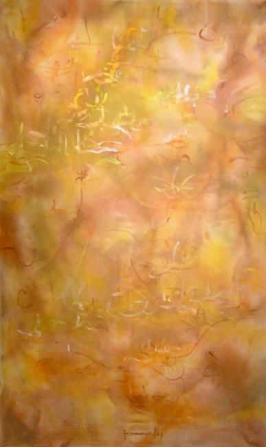 adobe walls - Painting,  66x38 in ©2006 by Richard Lazzara -