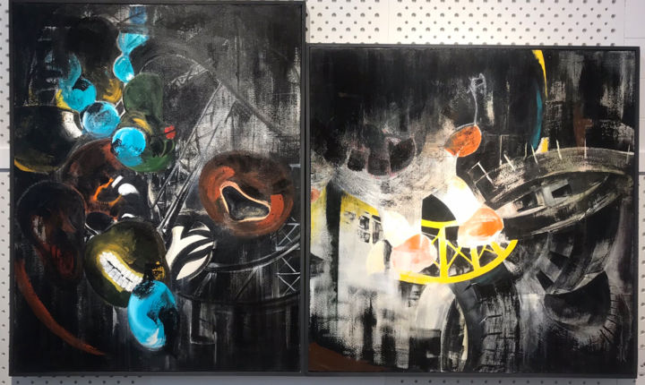 """Painting titled """"from Game-Maker Dev…"""" by Shanly Momeni, Original Art, Acrylic"""
