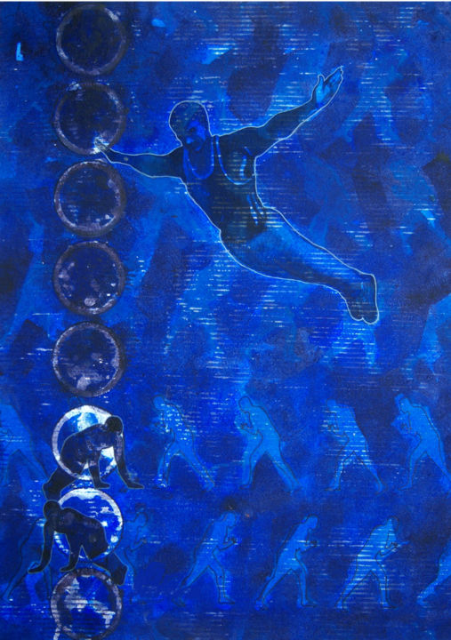 """Painting titled """"Let me Fly"""" by Pawan Sharma, Original Art, Acrylic"""
