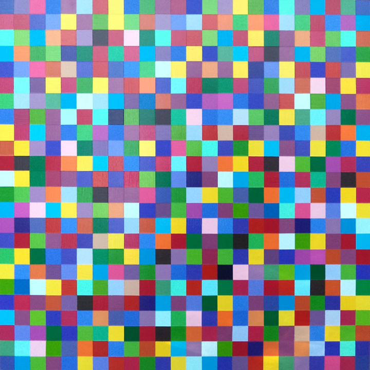 """Painting titled """"Multicolor Squares"""" by Shauno, Original Art, Acrylic"""