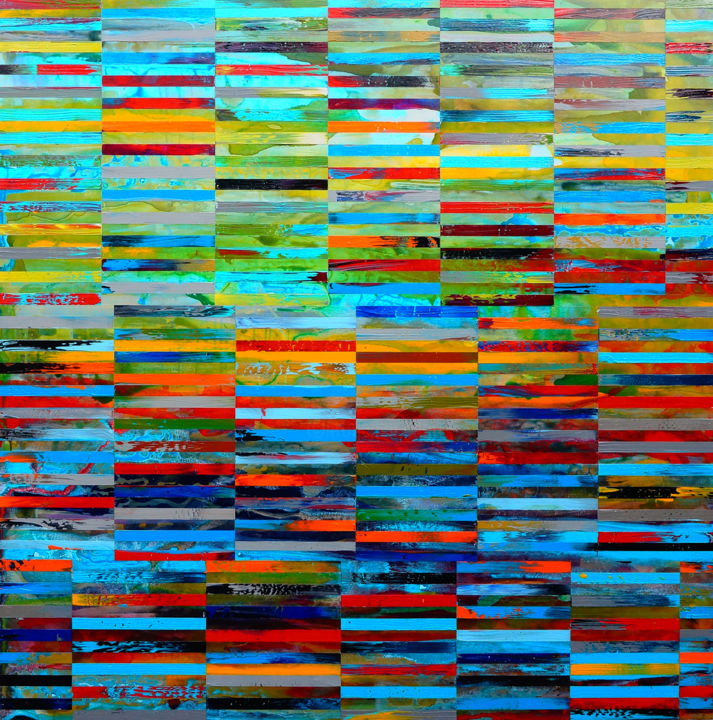 """Painting titled """"DNA Landscape"""" by Shawn Skeir, Original Art, Acrylic"""