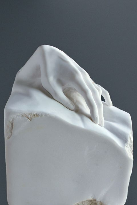 """Sculpture titled """"Touch"""" by Sherry Tipton, Original Art, Stone"""