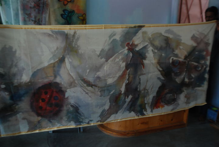 """Painting titled """"Hand-paint-sharee.j…"""" by Shipper, Original Art, Watercolor"""
