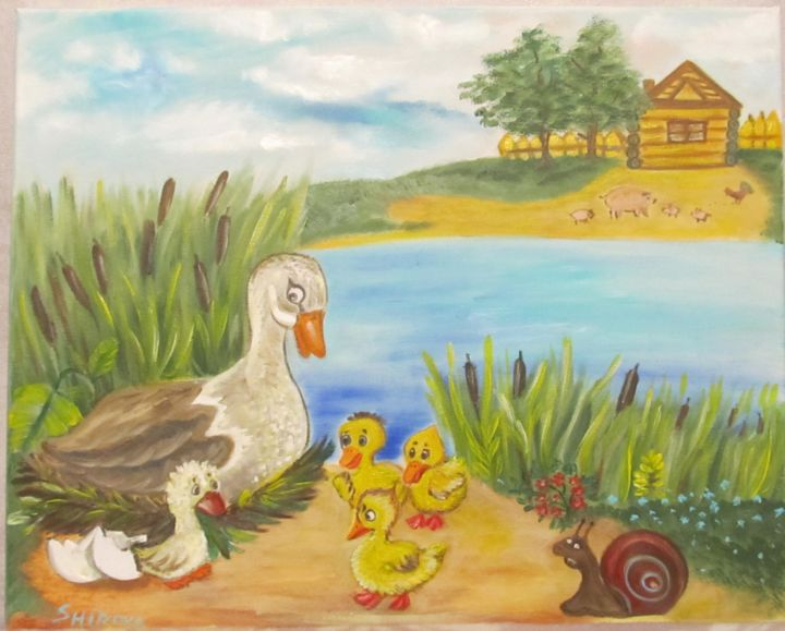 "The Tale ""Ugly Duckling"" - ©  The Tale ""Ugly Duckling"", сказка, гадкий утенок Online Artworks"