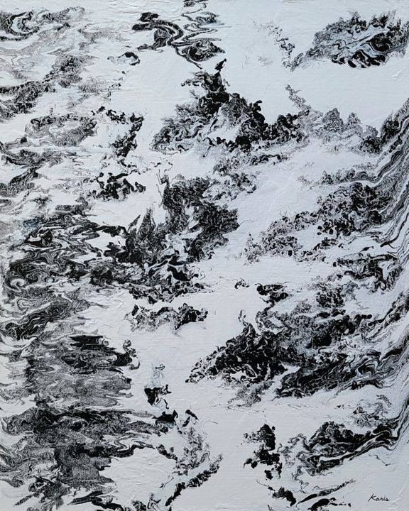 """Painting titled """"cloudy mountains"""" by So Hyon Kim, Original Art, Acrylic"""