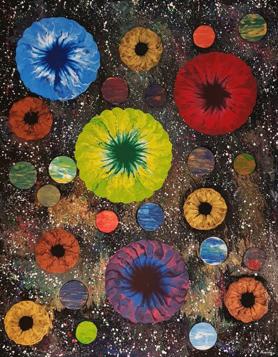 """Painting titled """"flower planet2"""" by So Hyon Kim, Original Art, Acrylic"""