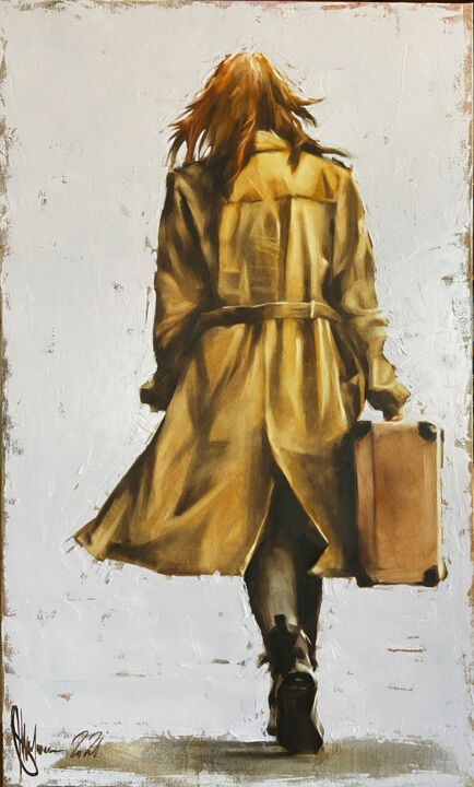 """Painting titled """"When you leave, go."""" by Shulman, Original Art, Oil"""