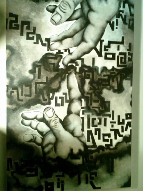 """Painting titled """"creation lies"""" by Sherry Ostopick, Original Art,"""
