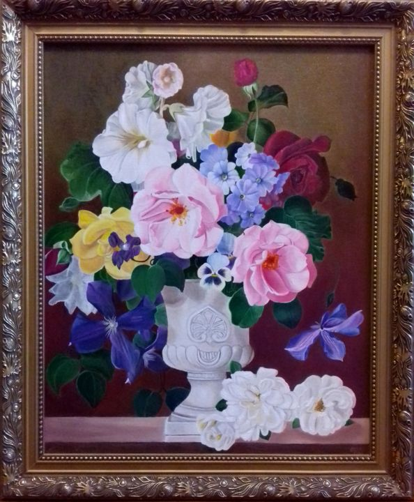 Artmajeur & Flowers in a vase Painting by Tetiana Shvets | Artmajeur