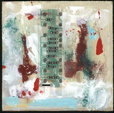 """Painting titled """"Abstract with diagr…"""" by Siff Skovenborg, Original Art,"""