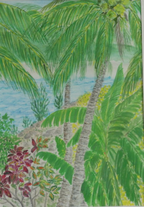 """Painting titled """"Jungle"""" by Sieglinde (Siggy) Margarete Schitter, Original Art, Watercolor"""