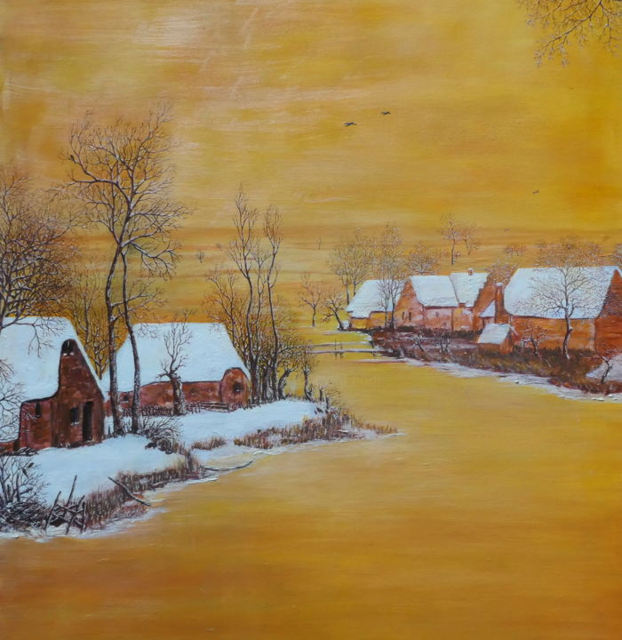 """Painting titled """"Old Europe"""" by Sieglinde (Siggy) Margarete Schitter, Original Art, Acrylic"""
