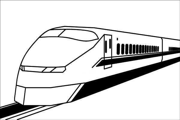 Line Drawing Train : Line illustration drawing by mr t silappathikaram