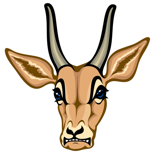 Gazelle head drawing - photo#8