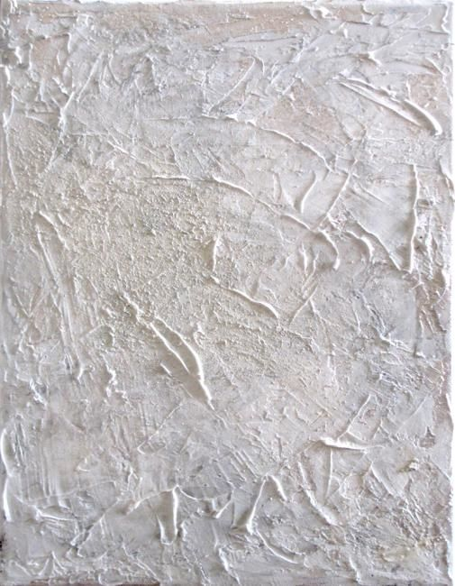 Limestone - small - Painting,  16x16 in ©2012 by Silvana Klaric -                            Abstract Art, Summer, purity, awe...