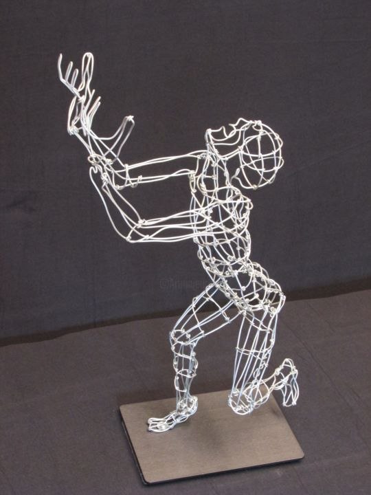 """Sculpture titled """"Why?"""" by Simon Berson, Original Art, Metals"""