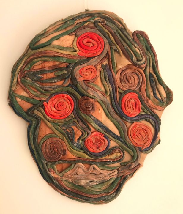 """Sculpture titled """"The emotional one"""" by Simona Pavlova, Original Art, Clay"""