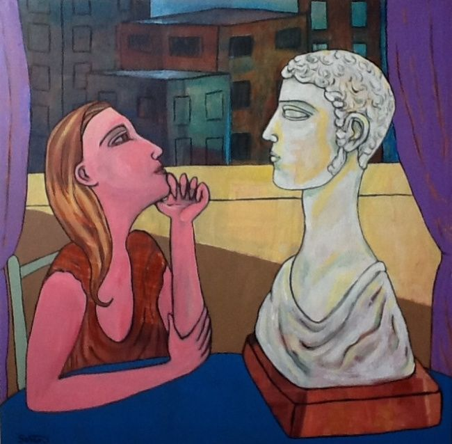 Painting,  60 x 60 cm ©2012 by Simon Taylor -  Painting