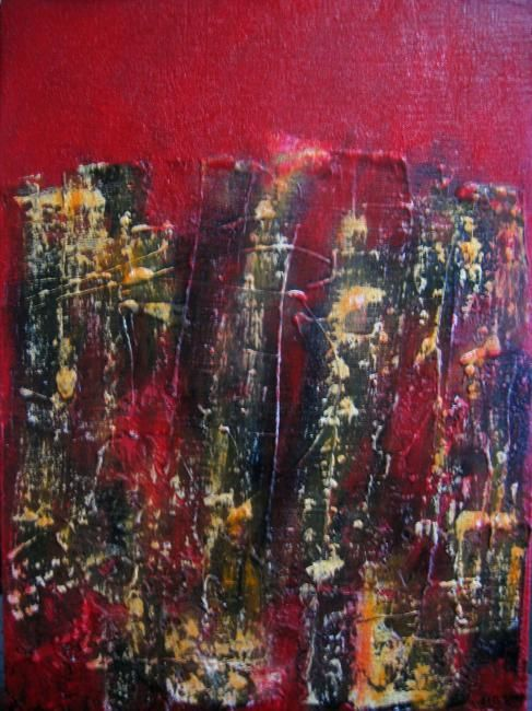 """Painting titled """"Ira (anger)"""" by Sio Montera, Original Art,"""