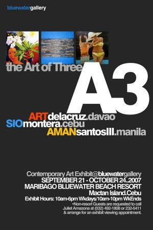 Crowd of Three By Ritchie Landis Doner Quijano, Published in SunStar Daily, Tuesday, September 25, 2007