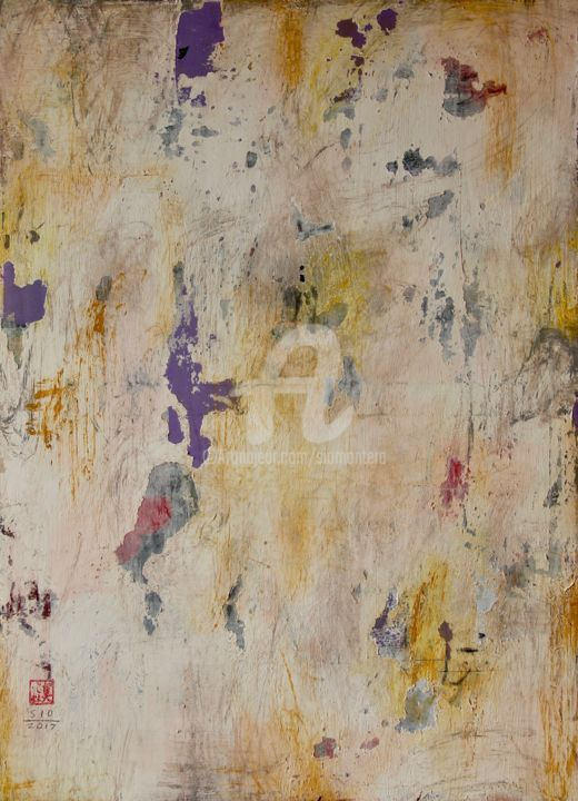 The Dinner Table - Painting,  72.5x53x5 cm ©2017 by Sio Montera -                                                        Abstract Art, Canvas, Home