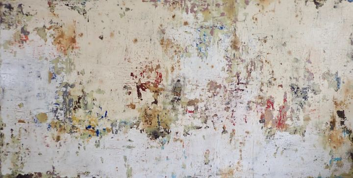 Collecting Beautiful Isolated Memories - Painting,  48x96x2 in, ©2019 by Sio Montera -                                                                                                                                                                          Abstract, abstract-570, Abstract Art