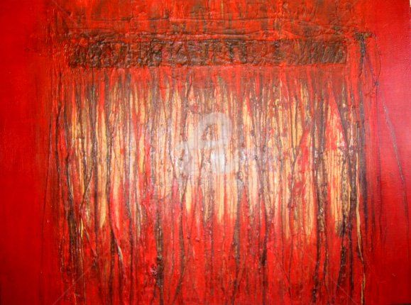 The Pain Within - Painting,  54.7x72.1 in, ©2007 by Sio Montera -